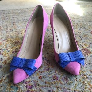 J. CREW Collection Contessa Suede Pumps with Bow